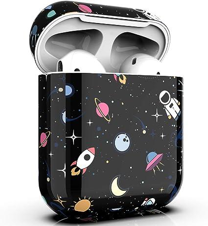 Amazon Com Pbro Airpods Case Cute Astronaut Case Protective Hard