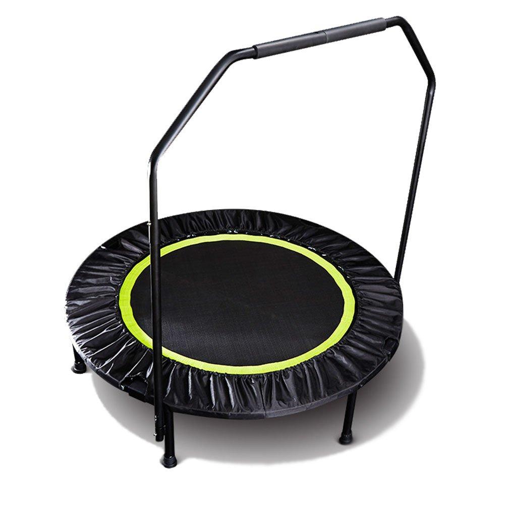 ハクチョウ(hakucho) トランポリン フィットネストランポリン 折りたたみ式 直径101cm 手すり付き 耐荷重150kg 安全静音 家庭用 子供用 有酸素 運動 エクササイズ ダイエットに  グリーン B07FD63JBD