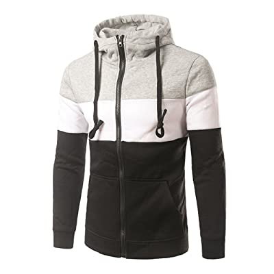 YanCui@ Men's Casual Sports Fall Winter Zipper Hooded Hoodies Outerwear
