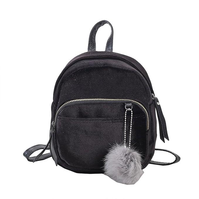 Women Girls Gold Velvet Mini Backpack 8060dcf3cd840