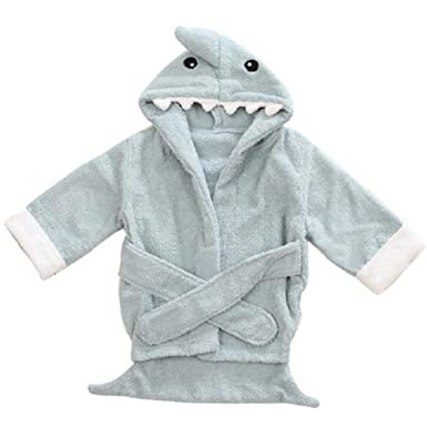 Amazon.com: BAOBAOLAI Baby Bath Robe, Toddler Girl Boy Hooded Animal ...