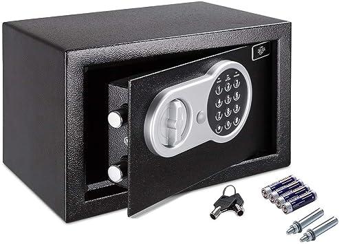 Deuba Caja Fuerte Seguridad Safe Negro Cierre electrónico 20 x 31 ...