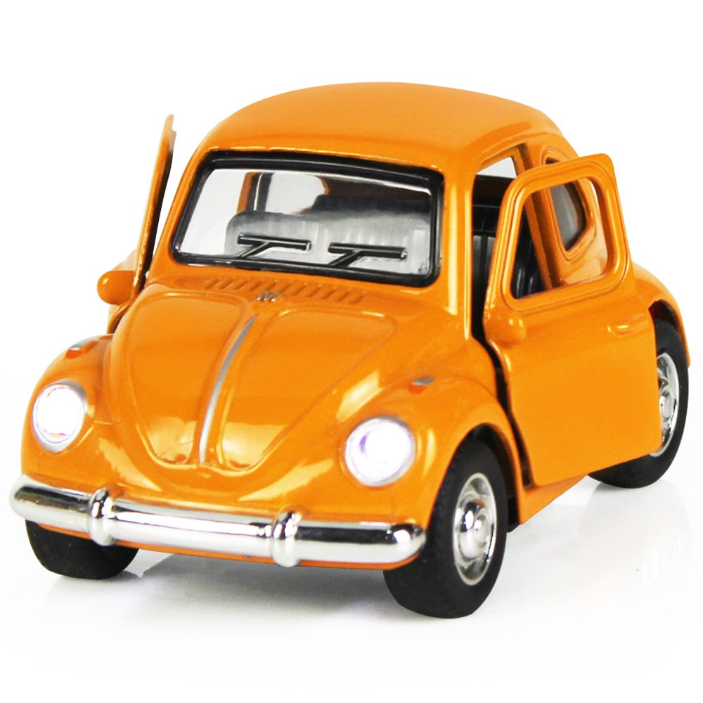 iPlay, iLearn Die Cast Bus Pull Back Play Toy Vehicles, Model Car Kits, Old Car Models, Classic Diecast Model Cars, Moving Vehicle Toys, School Bus with Lights and Sounds (A,Orange 1)