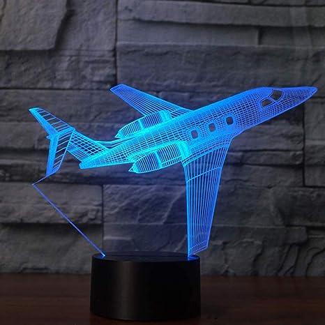 3D Plane Airplane 7 Color Change LED Lamp Night Light