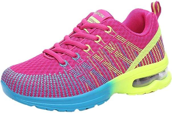 Logobeing Zapatillas Running Mujer Transpirable Zapatos Comodos Mujer Zapatillas de Deporte Outdoor Calzado Asfalto Gimnasia(42,Rosa): Amazon.es: Zapatos y complementos