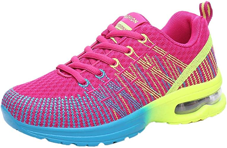 Logobeing Zapatillas Running Mujer Transpirable Zapatos Comodos ...