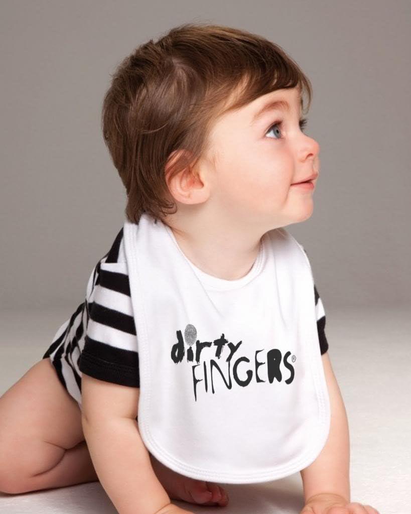 Dirty Fingers B/éb/és Bavoirs Future Intello G/énie Comme Papa Orange