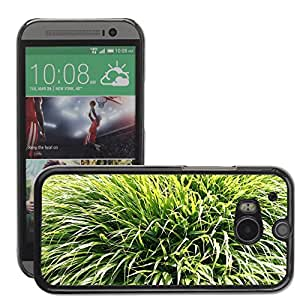 Hot Style Cell Phone PC Hard Case Cover // M00309697 Grass Green Plans Nature // HTC One M8