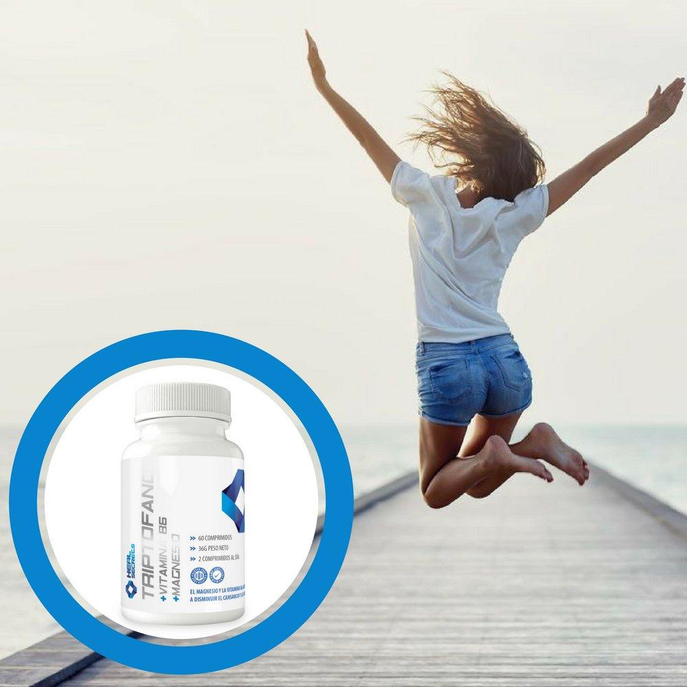 Triptofano Magnesio Vitamina B6 mejora tu estado animo 60 tabletas ...