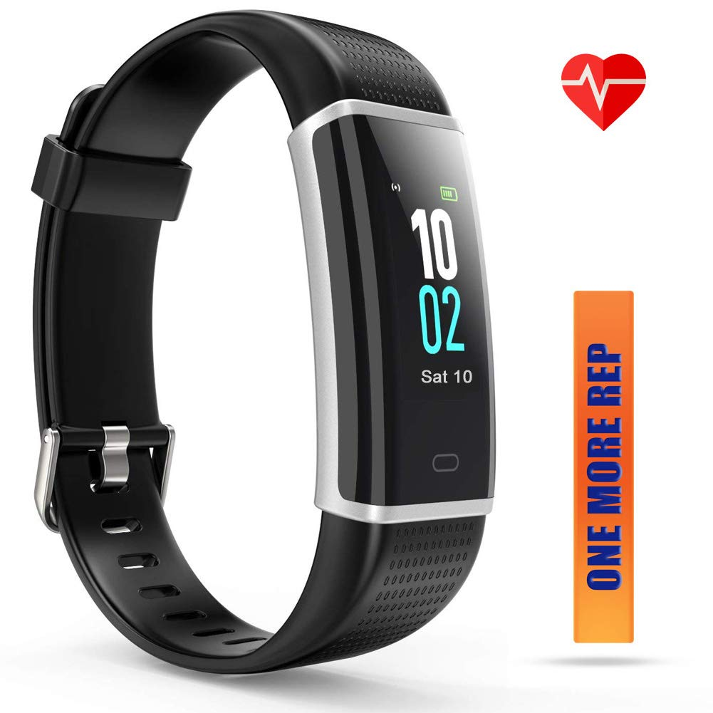 ZURURU Fitness Tracker HR, Step Counter and Pedometer for Walking with Heart Rate Monitor, Waterproof Fit Watch for Men, Women and Kids Gift