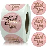 YKHENGTU Thank You Stickers, 1.5inch Rose Gold Foil Thank You Label Stickers for Small Business Owner, Business Boutiques Sho