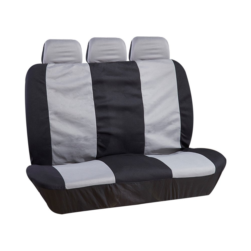 Fit Most Car, Truck, Suv, or Van UR URLIFEHALL BLACK//Charcoal RED Car Seat Cover Mats Full Set