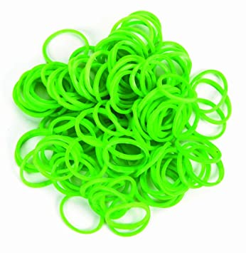 300 Green Color Darice Stretch Band Bracelet Loops Latex Free 12 /& Clips
