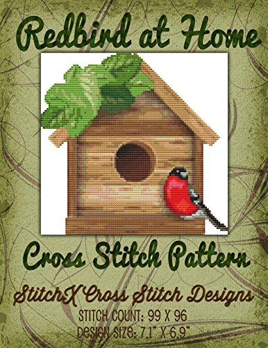 Primitive Cross Stitch Patterns (Redbird at Home Cross Stitch Pattern)
