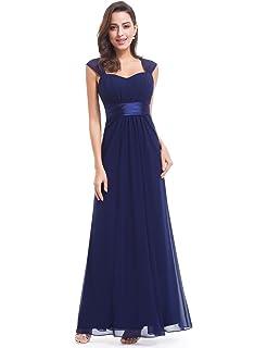 787ac84abc6 Ever-Pretty Vestido de Fiesta Noche Dama de Honor Mujer Largo Gasa Imperio  08834