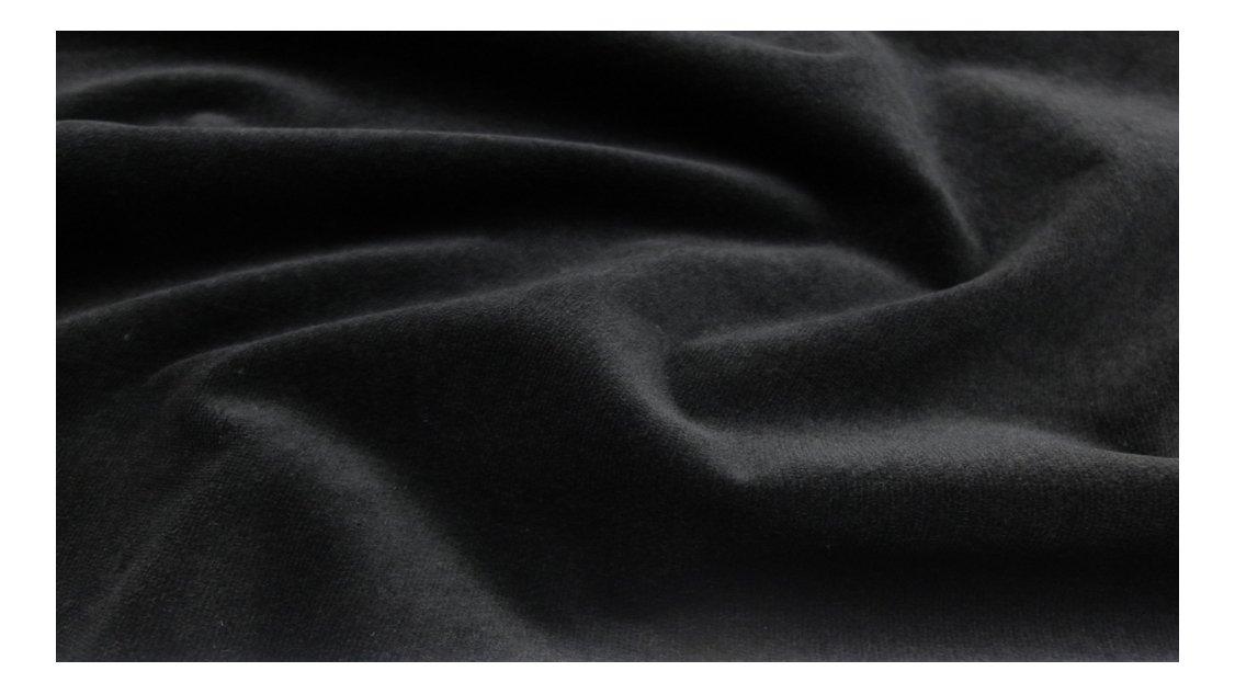 Fabrics City profondo nero ufficio velluto cotone tessuto di velluto tessuto Stoffe, 3944 Fabrics-City
