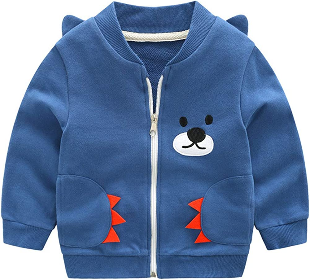 Autumn Toddler Baby Boys Girls Sweatshirt for 1-6 Years,Cotton Fall Cartoon Fire Engine Print Soft Pullover