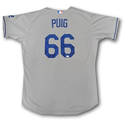 new concept e75c7 e1b39 Yasiel Puig Official Major League Team Issue Los Angeles ...