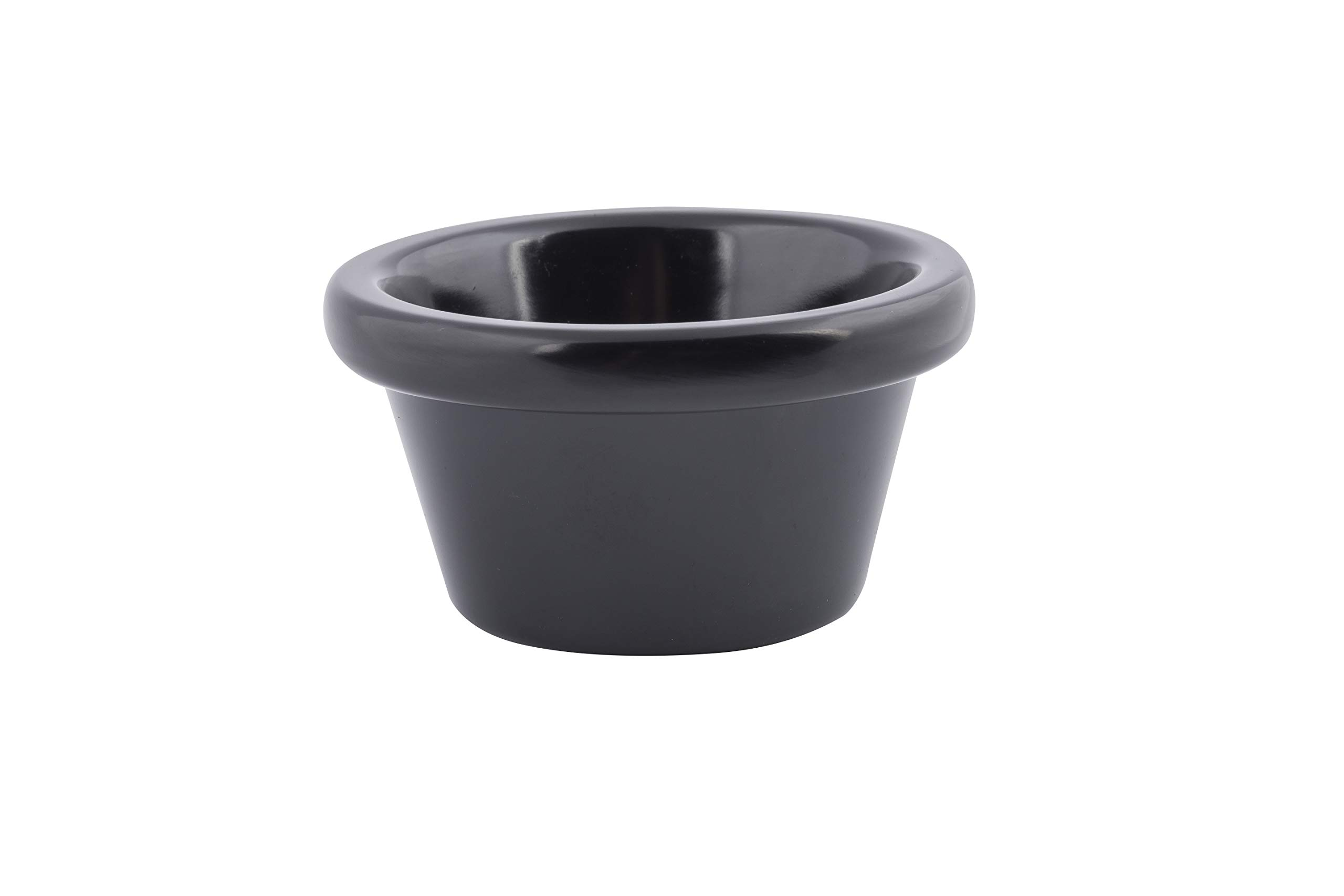 TableCraft Products RAM3BK 3 oz./89 mL Black Melamine Ramekin (Pack of 12)