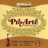 D'Addario J5602 4/4M Pro-Arte Nylon violin Strings, Medium