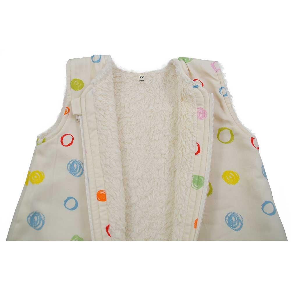 Cotonea, saco de dormir con mangas forro de felpa, 90 cm, diseño de Kritzelkreise, algodón Bio: Amazon.es: Bebé