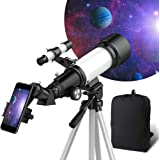 OYS Telescope, Telescopes for Adults, 70mm Aperture 400mm AZ Mount, Telescope for Kids Beginners, Fully Multi-Coated…