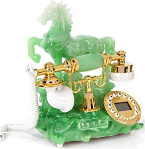TelPal Push Dial Telephone Modern Stylish Landline Phones, Corded Phone with A Horse Design for Home and Decor, Best Home Gift