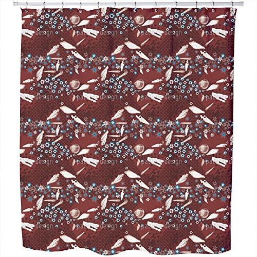 Uneekee Beach Items Shower Curtain: Large Waterproof Luxurious Bathroom Design Woven Fabric by uneekee