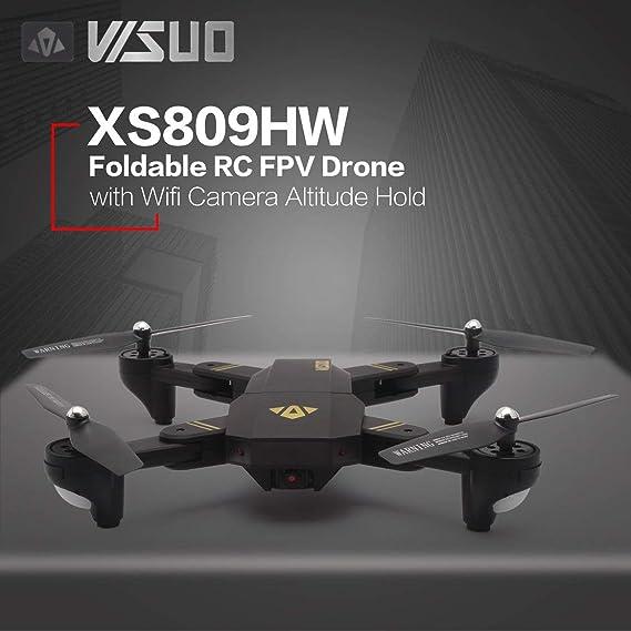 Delicacydex VISUO XS809HW 2.4G Plegable FPV Selfie Drone RC ...