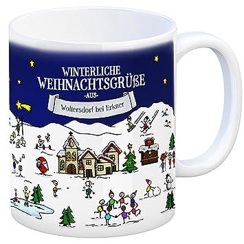 Woltersdorf bei Erkner Weihnachten Kaffeebecher mit winterlichen ...