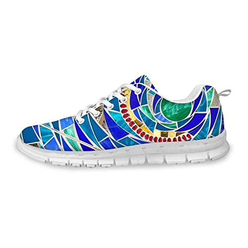 26bc6ffbca2 FOR U DESIGNS Casual Go Easy Walking Casual Athletic Comfort Running Shoes  Sneakers Blue US 5