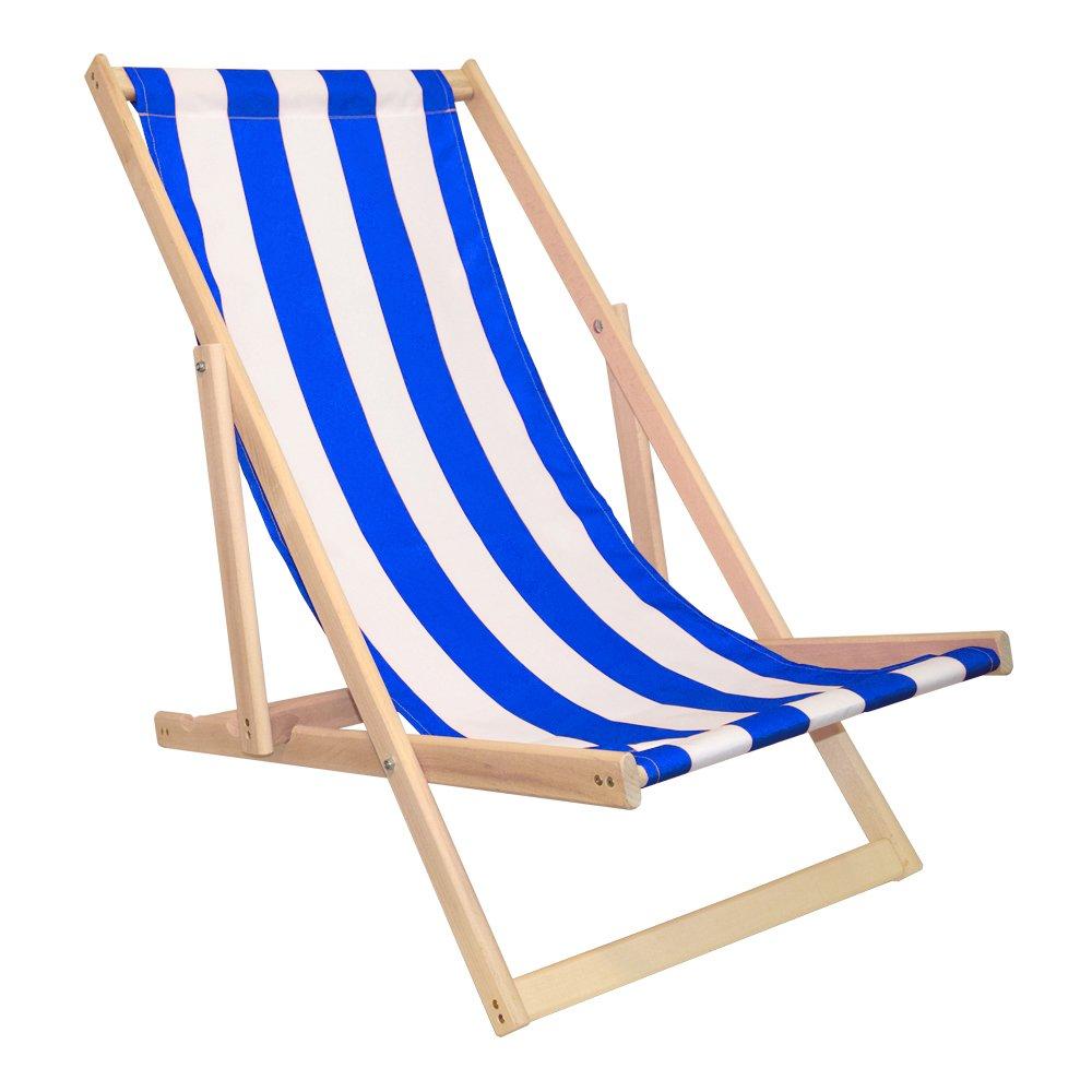 Amazon.de: Liegestuhl Strandliege Sonnenliege Buchenholz ...