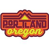 PORTLAND Oregon PDX OR Car Weatherproof Window Decal in Retail Packaging