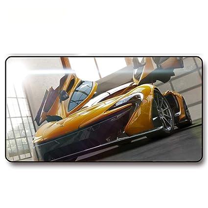 HONGHUAHUI Cool Yellow Sport Car Pattern Gamer Pad de ...