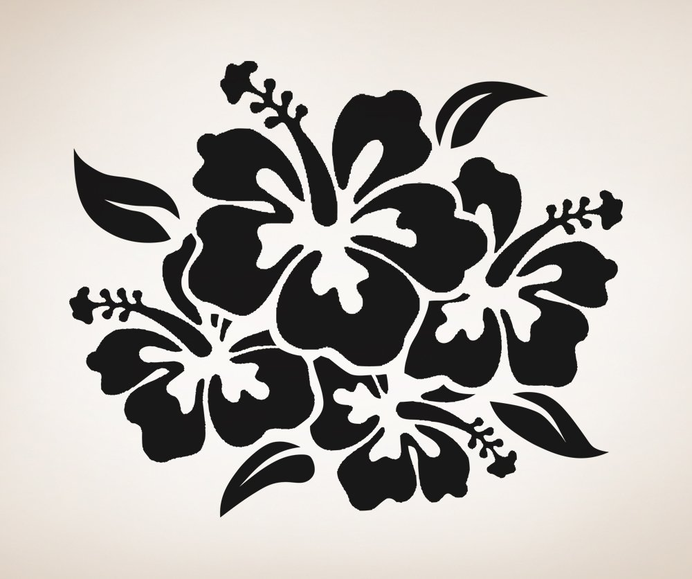 Amazon Vinyl Wall Decal Sticker Hibiscus Flowers Osaa238b
