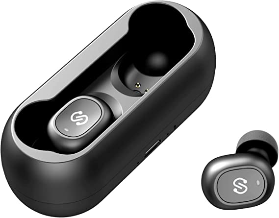 Amazon Com Soundpeats True Wireless Bluetooth Earbuds In Ear Stereo Bluetooth Headphones Wireless Earphones Bluetooth 5 0 Built In Mic Stereo Calls Total 15 Hours Playtime