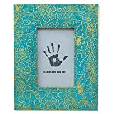 turquoise and gold picture frames - NOVICA Bohemian Aluminum Frame, Brown Or Gold Turquoise Blue, 4x6, Tropical Blossom'