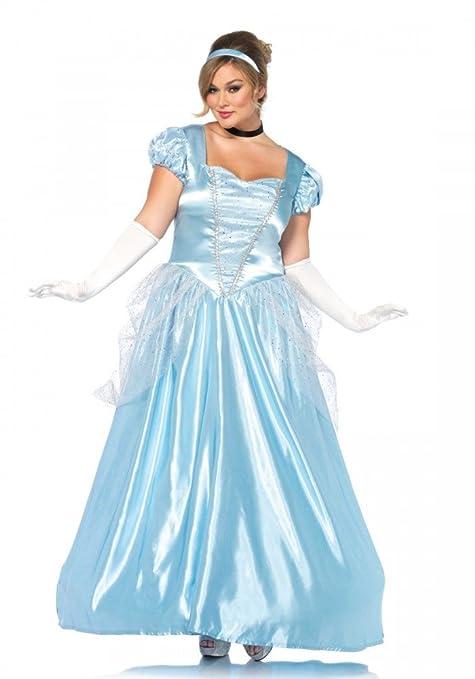 e5f2a755ae57 shoperama Classic Cinderella Plus Size Costume by Leg Avenue Fairytale  Princess Movie