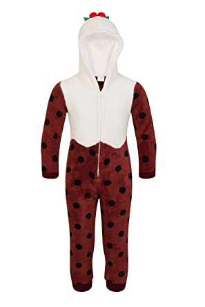 Loungeable Womens   Kids Christmas Onesies Or Robes Kids Christmas Pudding  All in One - 3 48ab467e1de9