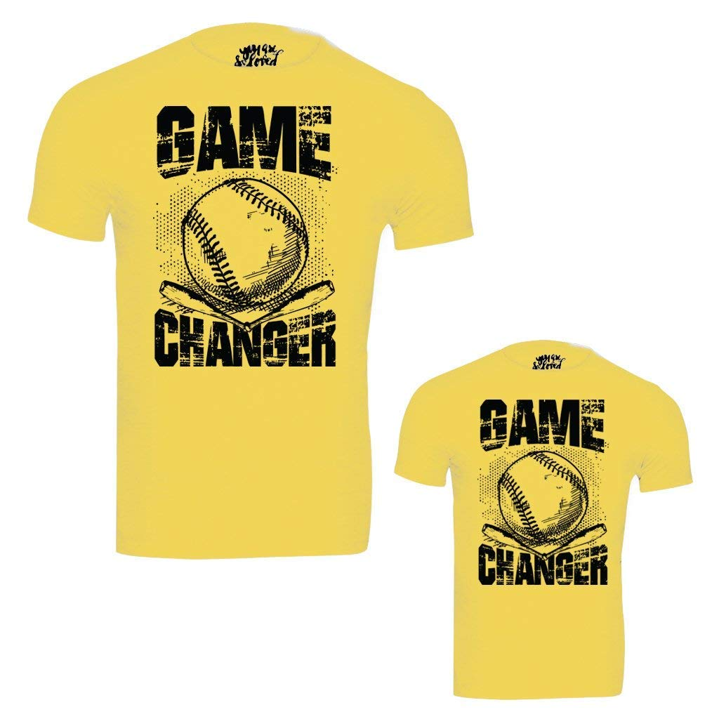 c868084f9 Bon Organik Yellow Game Changer Father Son Best Family Matching Father and Son  Tees-Dad and Son Combo Tshirts: Amazon.in: Clothing & Accessories