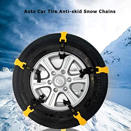 10pcs Car Snow Vehicles Wheel Tyre Tire Chains Belt Beef Tendon Anti-skid Strap