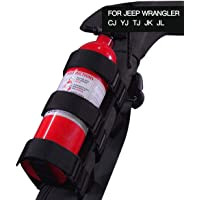 JeCar Fire Extinguisher Holder Adjustable Extinguisher Mount Strap for 1987-2020 Jeep Wrangler JK JL TJ CJ YJ & 2020…