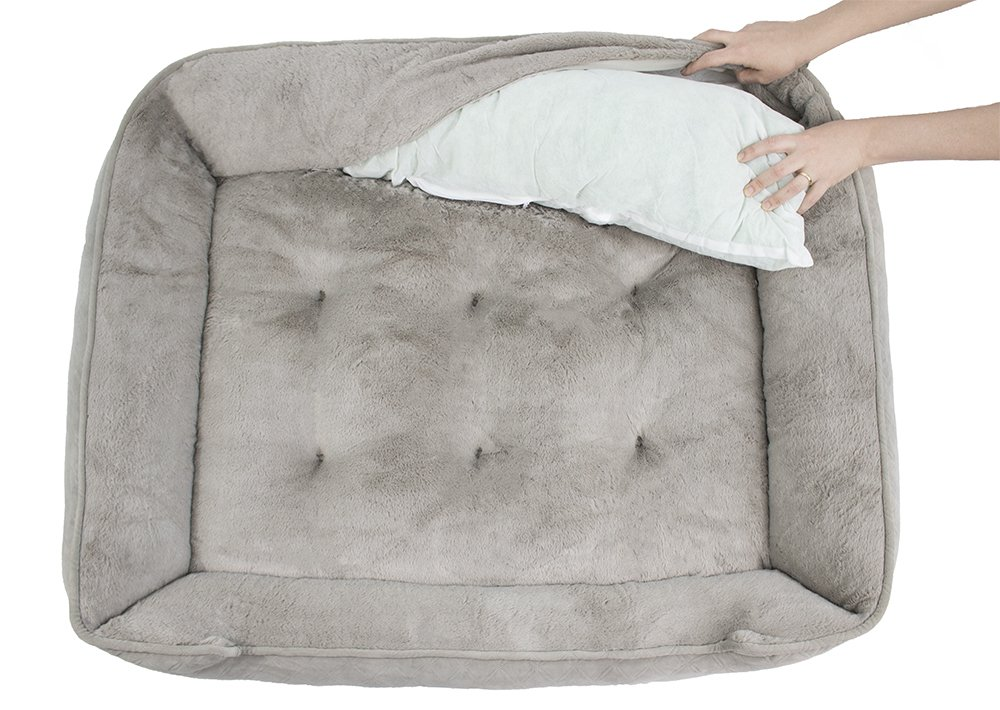 Arlee 59-01005CLS Cuddler Lounger and Cuddler Pet Bed, Large/X-Large, Cobblestone Taupe by Arlee (Image #4)