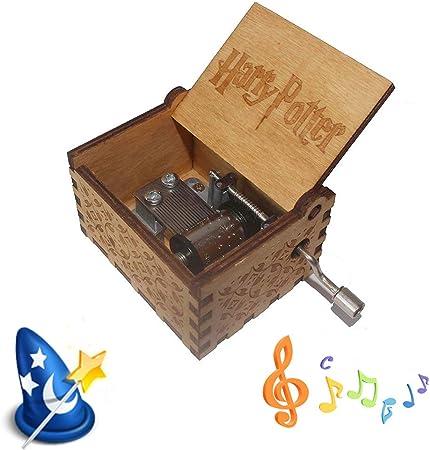Caja de música Harry Potter, Caja de música de Madera, Fondo de Harry Potter, música – Grabado Vintage único – Regalo clásico: Amazon.es: Hogar