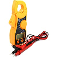 NUZAMAS Digital Clamp Meter Multimeter AC/DC Voltmeter, AC/DC Current, Resistance, Diode Tester with Overload Protection Results Recorder LCD Display