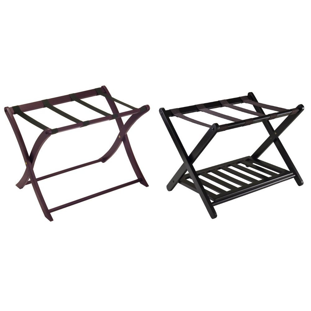 Winsome Wood Luggage Rack, Espresso + Winsome 92436  Luggage Rack with Shelf_Bundle by  (Image #1)