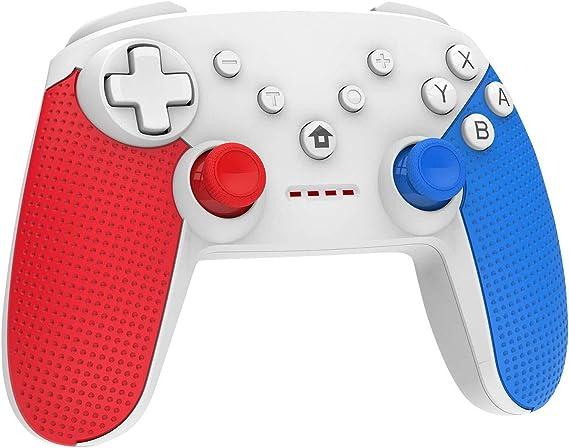 Mando Inalámbrico para Nintendo Switch, Pro Controlador Wireless Switch Gamepad, 6-Axis Gyro Dual Motor Switch Controller: Amazon.es: Videojuegos