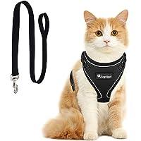 Angelpet Cat Harness and Leash Set for Walking Escape Proof,Kitten Harness,Super Soft Adjustable Breathable Cat Vest…