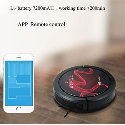 CleanMate App WiFi robot aspirador QQ6 Dry and Wet RP con con agua ...