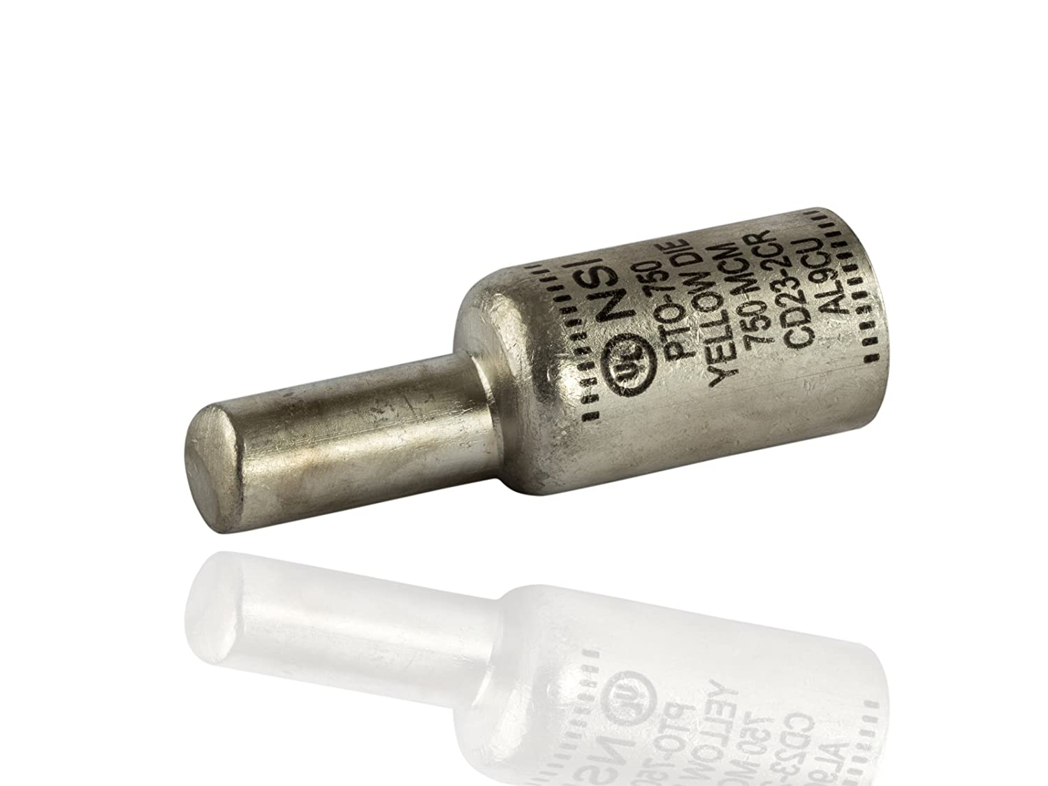 Offset Pin Terminal 1.46 OD Dual Rated Compression Connector 500 Pin Size Yellow 1.46 OD 4.20 Length NSi Industries PTO-750 PTO Series 4.20 Length 750 Wire Size